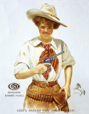 COLT - Western Girl Emaille bord