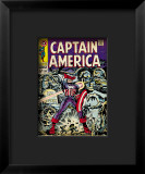 Marvel Comics Retro: Captain America Comic Book Cover 107, with Red Skull and Bucky Framed Giclee Print