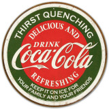 COKE - Thirst Quenching Plaque en m&#233;tal