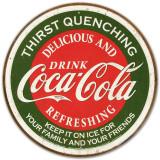 COKE, Slukker tørsten, på engelsk Blikskilt