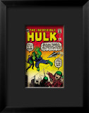 Marvel Comics Retro: The Incredible Hulk Comic Book Cover #3 Lmina gicle enmarcada