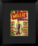 Marvel Comics Retro: Millie the Model Comic Book Cover #1, the Big Annual Impressão giclée emoldurada
