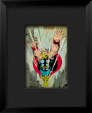 Marvel Comics Retro: Captain America Comic Panel, Flying Framed Giclee Print