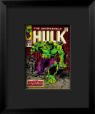 Marvel Comics Retro: The Incredible Hulk Comic Book Cover #105 Impressão giclée emoldurada