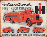International Fire Truck Chassis Plaque en métal