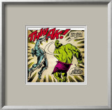 Marvel Comics Retro: The Incredible Hulk Comic Panel, Fighting, Thwak! Framed Giclee Print