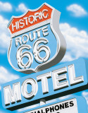 Route 66 Motel Tin Sign