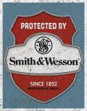 Smith & Wesson - Protected By Plakietka emaliowana
