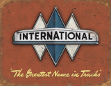 International Truck Logo Tin Sign
