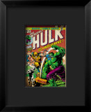 Marvel Comics Retro: The Incredible Hulk Comic Book Cover #181, with Wolverine and the Wendigo Impressão giclée emoldurada