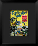 Marvel Comics Retro: Fantastic Four Family Comic Book Cover 2, Fighting Skrulls Framed Giclee Print