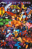 Marvel Heroes - Diptych 1 Psters