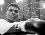Muhammad Ali - The Greatest Blechschild