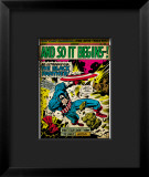Marvel Comics Retro: Captain America Comic Panel, And So It Begins..! Framed Giclee Print