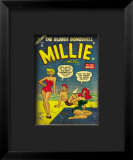 Marvel Comics Retro: Millie the Model Comic Book Cover #45, in Bathing Suit, at the Beach Impressão giclée emoldurada