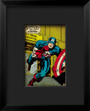 Marvel Comics Retro: Captain America Comic Panel, U.S. naval Hospital Framed Giclee Print