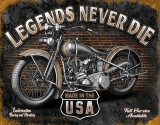 Legends - Never Die Targa in metallo