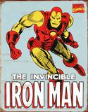 Iron Man Retro Plechová cedule