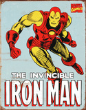 Iron Man Retro Metalen bord