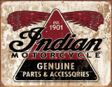 Indian - Genuine Parts Plaque en métal