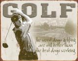 Golf - Best Days Plaque en métal
