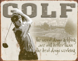 Golf - Best Days Emaille bord