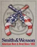 S&W - American Born Plaque en métal