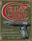 COLT - Extra Safety Plaque en métal