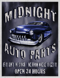 Legends - Midnight Auto Parts Plaque en métal