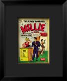 Marvel Comics Retro: Millie the Model Comic Book Cover 53, Fashion Show Information Booth Framed Giclee Print