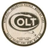 Colt - Round Logo Plaque en métal