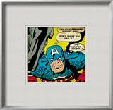 Marvel Comics Retro: Captain America Comic Panel, Villain Monologue, Say your Prayers Framed Giclee Print