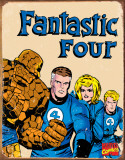 Fantastic Four Retro Plaque en métal