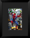 Spider-Man, Doctor Octopus, Green Goblin, Vulture, Black Cat, Electro, Lizard, Rhino and Sandman Framed Giclee Print
