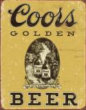 COORS Golden Vintage Plaque en métal