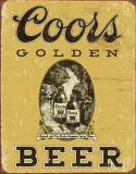 COORS Golden Vintage Targa in metallo