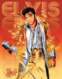 Petruccio - Elvis Gold Lame Blechschild