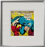 Marvel Comics Retro: Captain America Comic Panel, Monologue, I'm in Luck! Framed Giclee Print