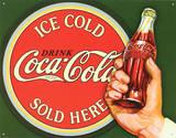 COKE - Ice Cold Bullseye Plaque en métal