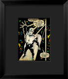 Marvel Comics Retro: Silver Surfer Comic Panel Framed Giclee Print