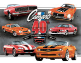 Camaro 40th Anniversary Tin Sign