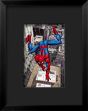 Spider-Man Above the City, Crawling on Web Framed Giclee Print