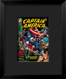 Marvel Comics Retro: Captain America Comic Book Cover 112, Album Issue! Framed Giclee Print