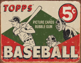 TOPPS - 1955 Baseball Box Plaque en métal