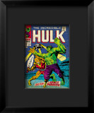 Marvel Comics Retro: The Incredible Hulk Comic Book Cover 103, with the Space Parasite Framed Giclee Print