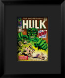 Marvel Comics Retro: The Incredible Hulk Comic Book Cover 102, Big Premiere Issue Framed Giclee Print