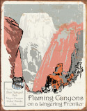 Union Pacific - Flaming Canyons Tin Sign