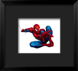 Spider-Man Shooting Framed Giclee Print