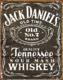 Whisky Jack Daniels - Logo grav&#233; sur bois Plaque en m&#233;tal