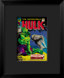 Marvel Comics Retro: The Incredible Hulk Comic Book Cover 104, with the Rhino Framed Giclee Print